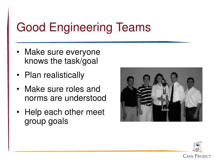 Good Engineering Teams