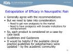 extrapolation of efficacy in neuropathic pain1