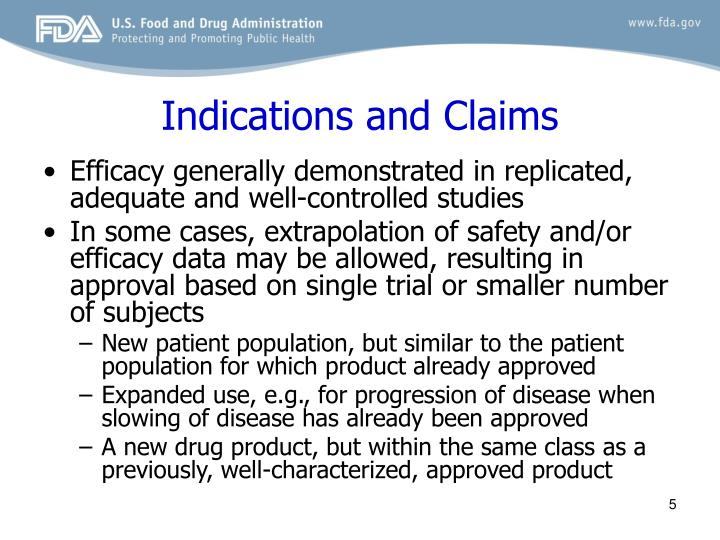 Indications and Claims