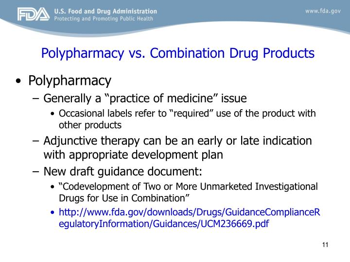 Polypharmacy vs. Combination Drug Products