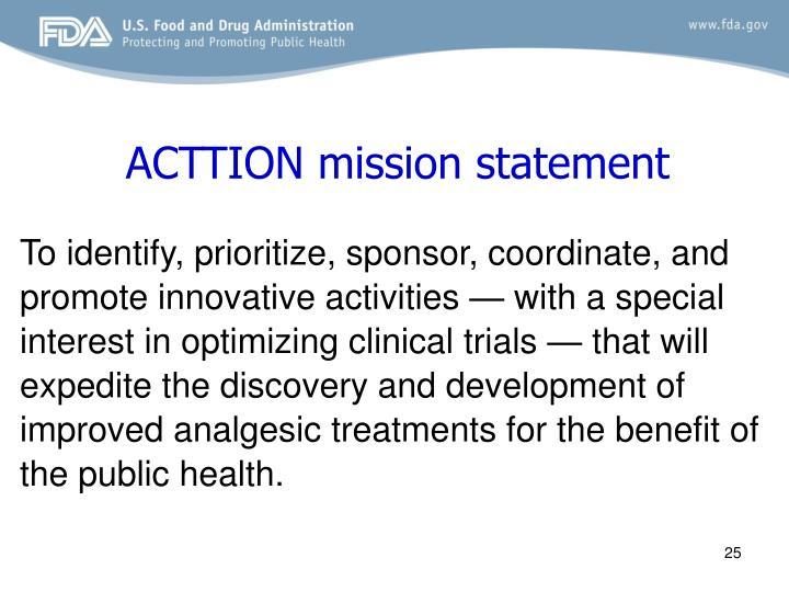 ACTTION mission statement