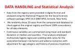 data handling and statistical analysis
