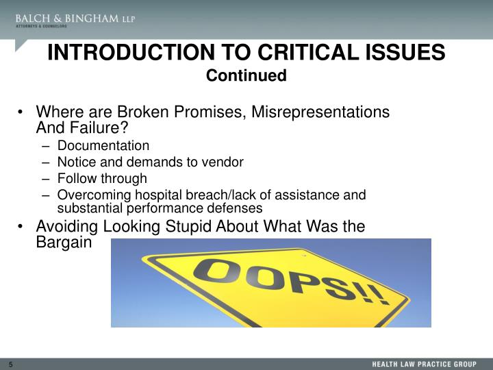 Where are Broken Promises, Misrepresentations And Failure?