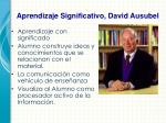 aprendizaje significativo david ausubel