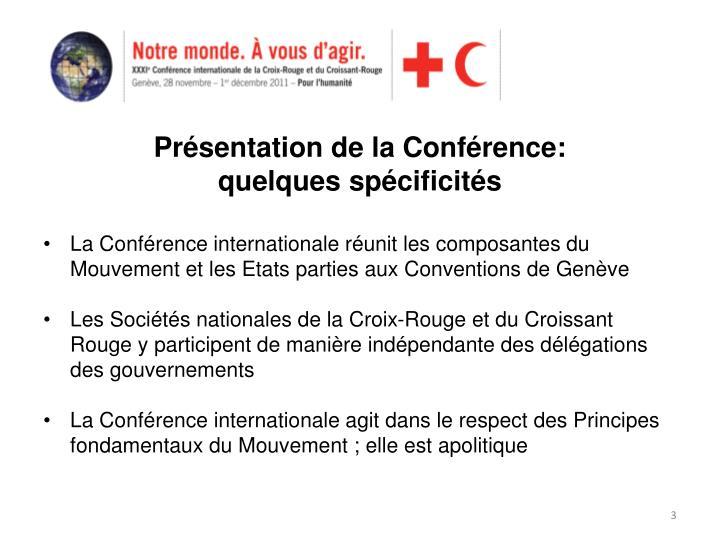 Présentation de la Conférence: