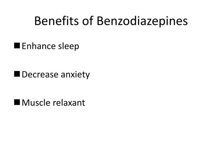 Benefits of Benzodiazepines