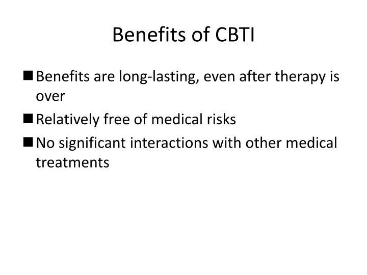Benefits of CBTI