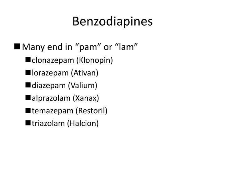 Benzodiapines