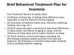 brief behavioral treatment plan for insomnia1