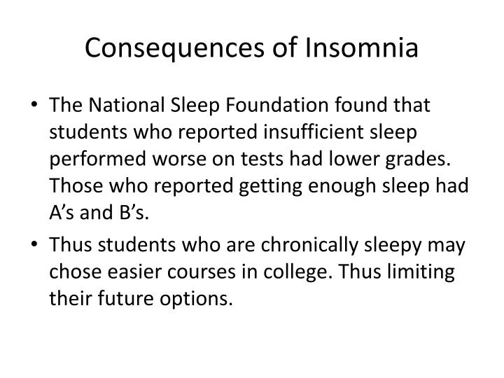 Consequences of Insomnia