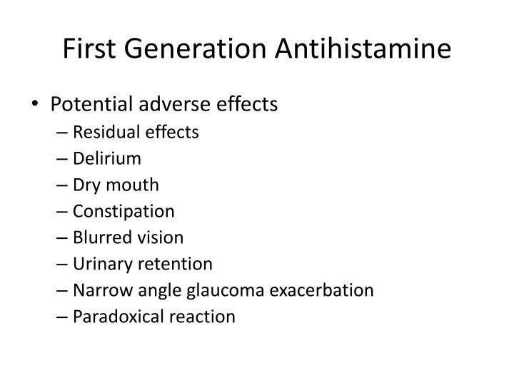 First Generation Antihistamine