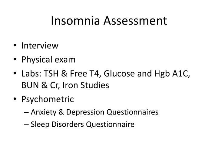 Insomnia Assessment