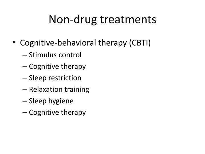 Non-drug treatments