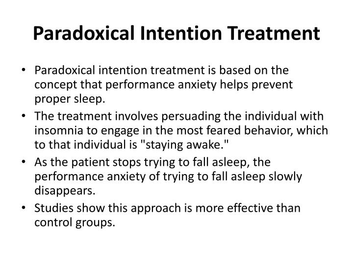 Paradoxical Intention Treatment