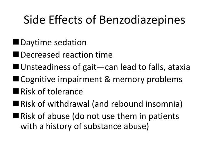 Side Effects of Benzodiazepines