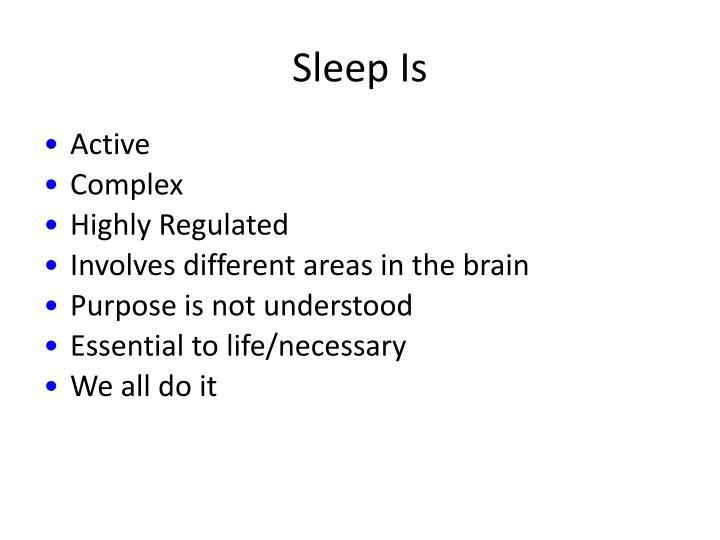 Sleep Is