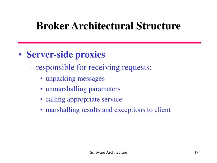 Broker Architectural Structure