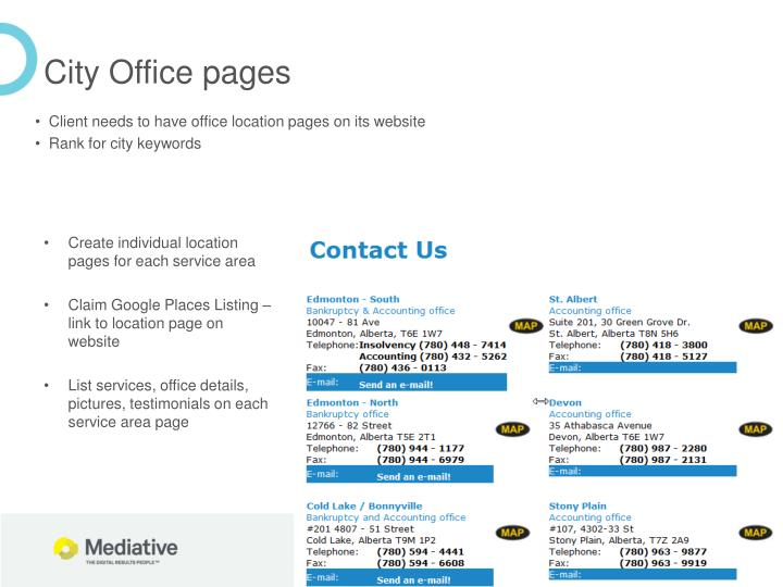City Office pages