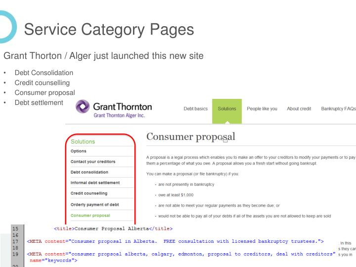 Service Category Pages