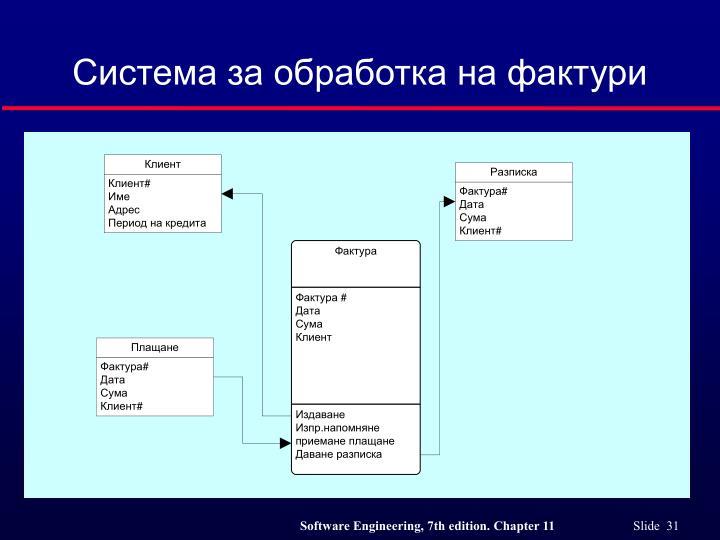 Система за обработка на фактури