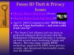 future id theft privacy issues