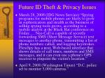 future id theft privacy issues1