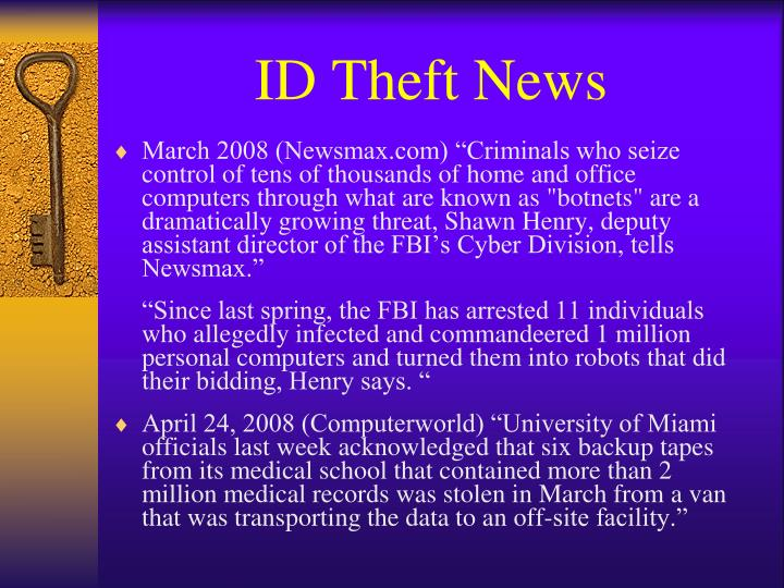 ID Theft News