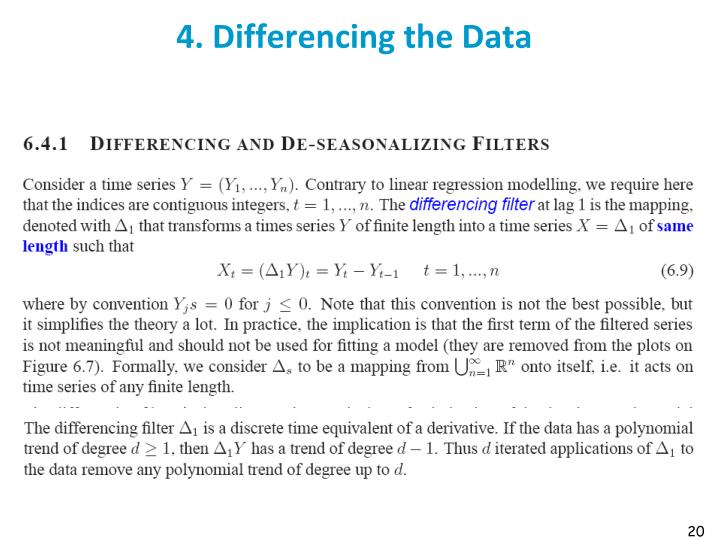 4. Differencing the Data