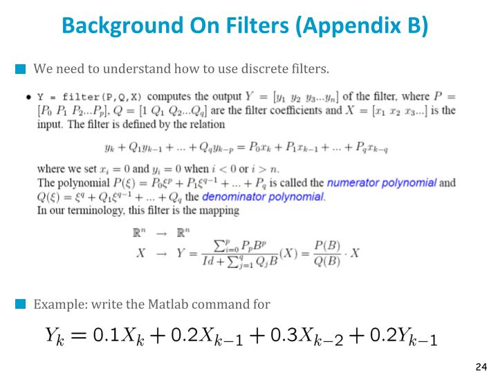 Background On Filters (Appendix B)