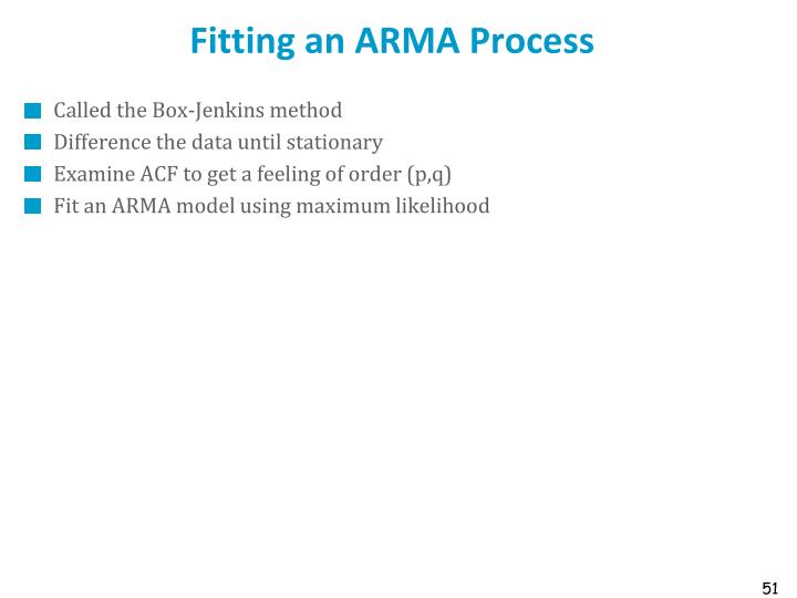 Fitting an ARMA Process