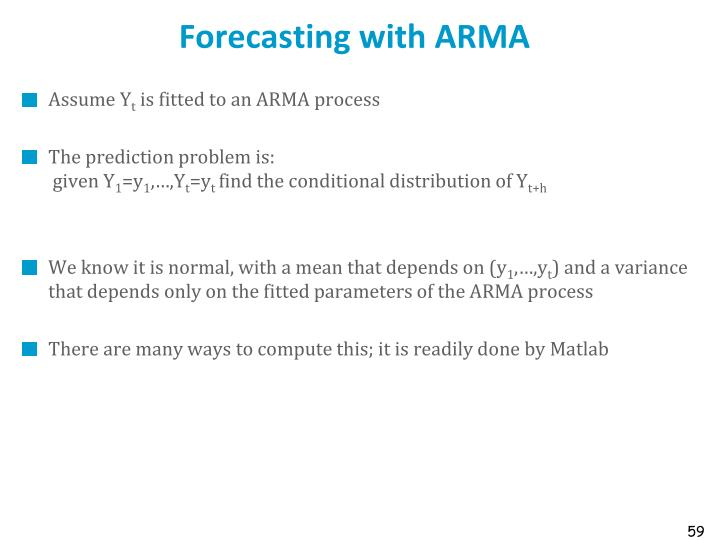Forecasting with ARMA