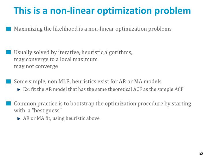 This is a non-linear optimization problem