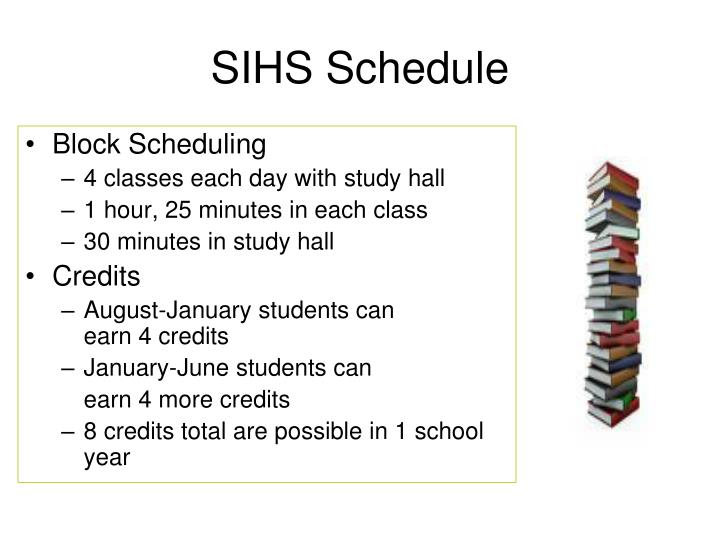 SIHS Schedule