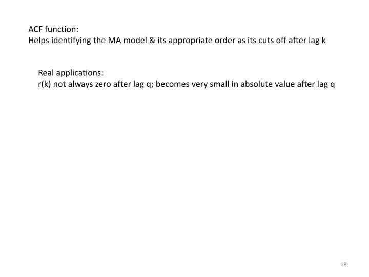 ACF function: