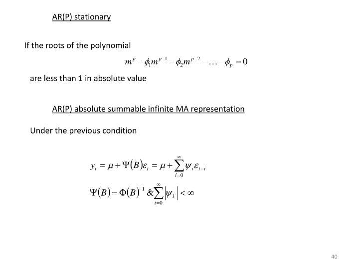 AR(P) stationary