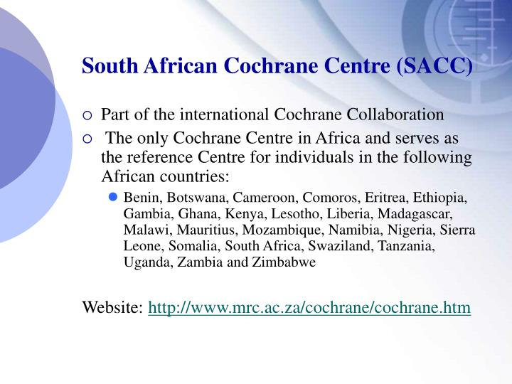South African Cochrane Centre (SACC)
