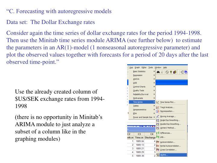 """C. Forecasting with autoregressive models"