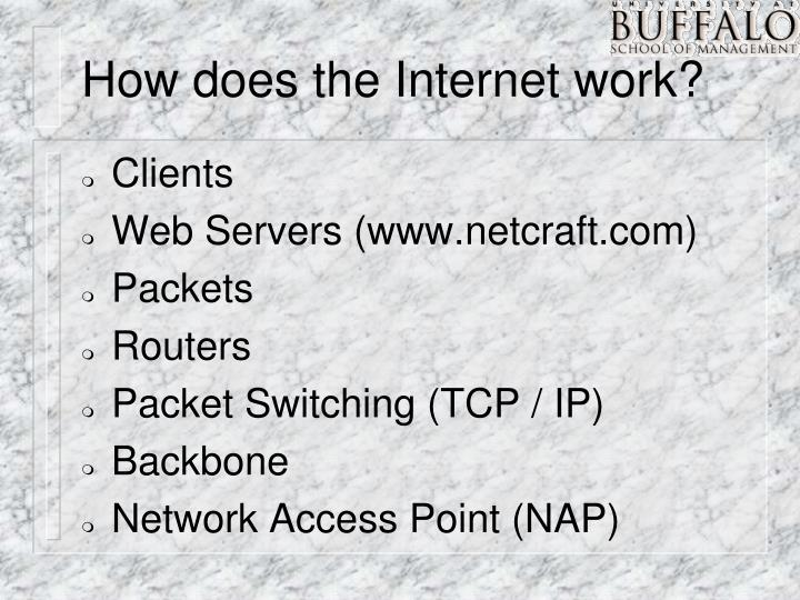 How does the Internet work?