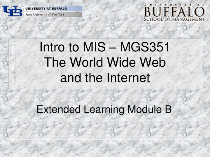 Intro to mis mgs351 the world wide web and the internet