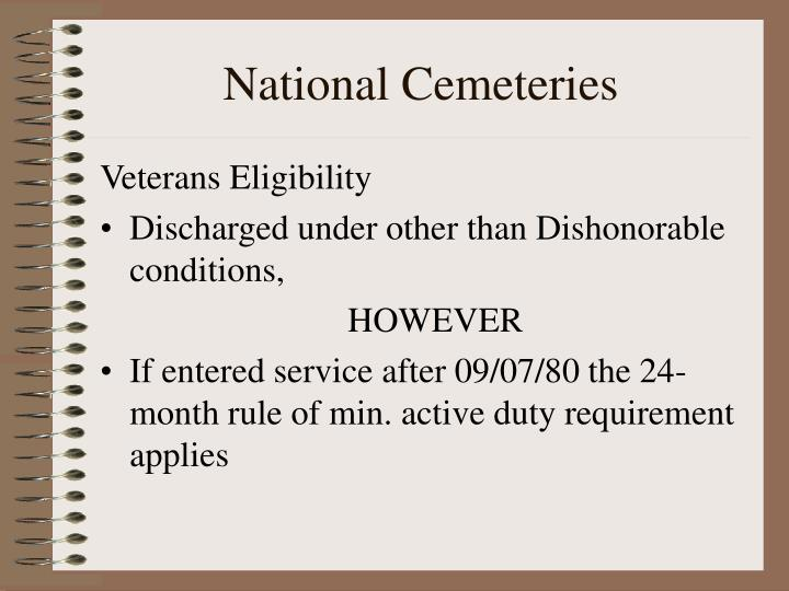 National Cemeteries
