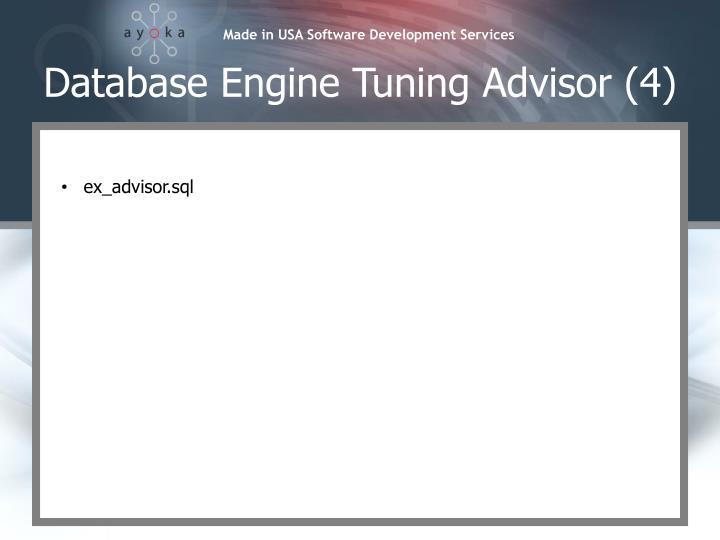 Database Engine Tuning Advisor