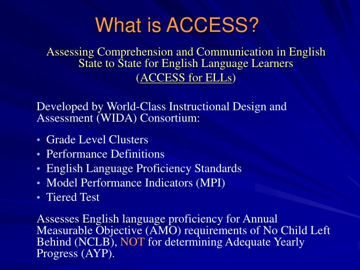 What is access