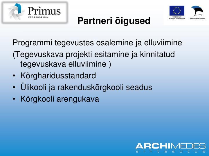 Partneri õigused