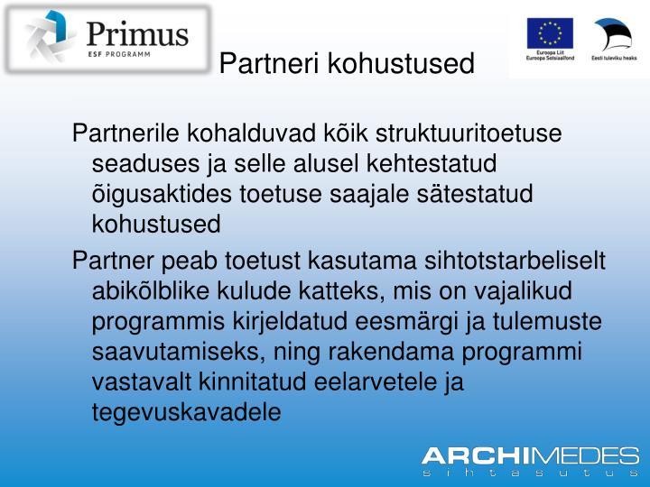 Partneri kohustused