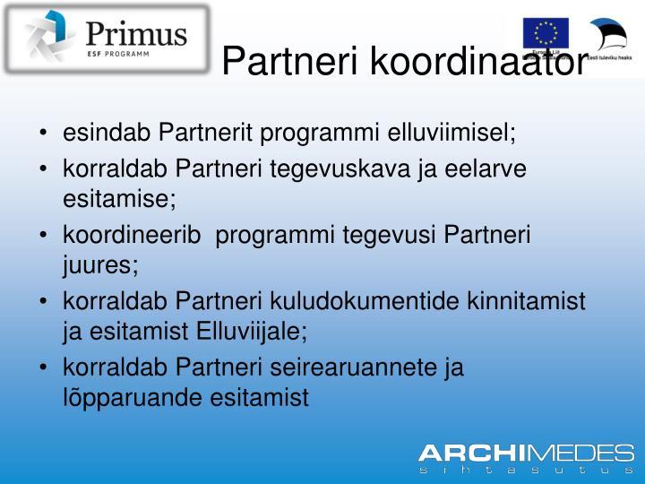 Partneri koordinaator