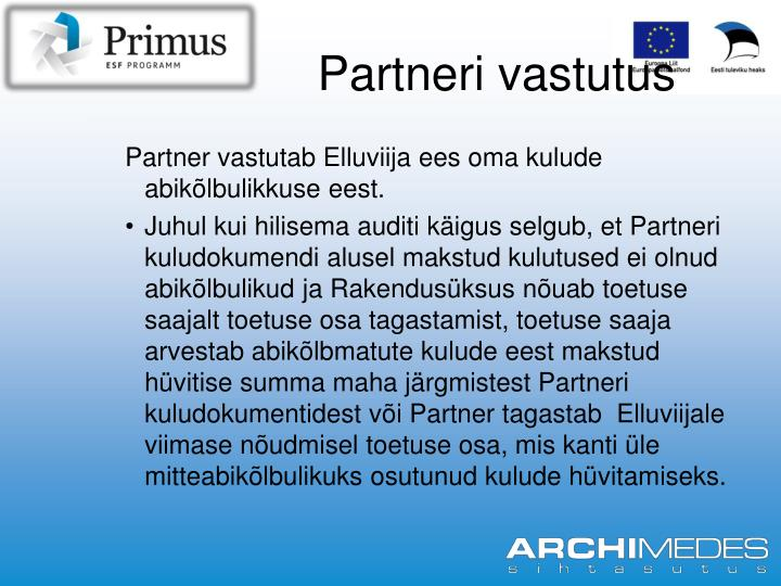 Partneri vastutus