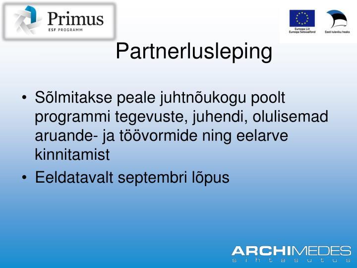 Partnerlusleping