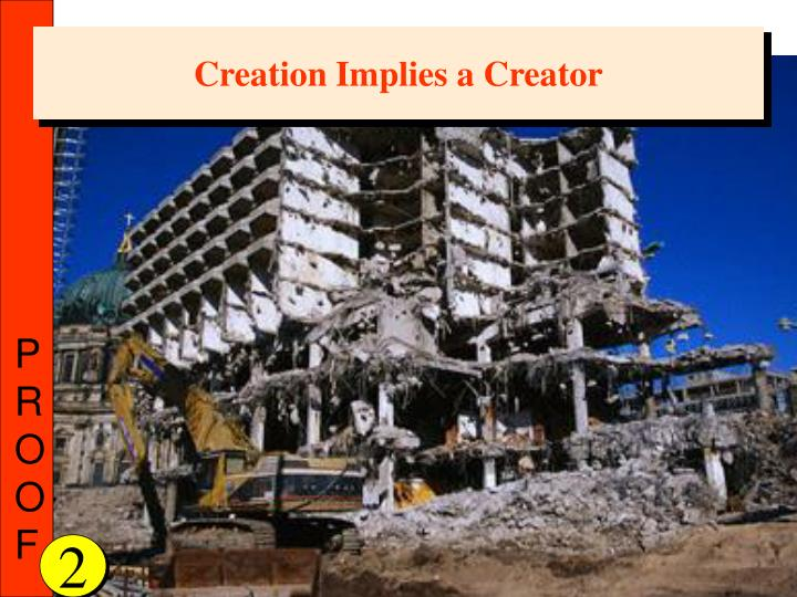 Creation Implies a Creator