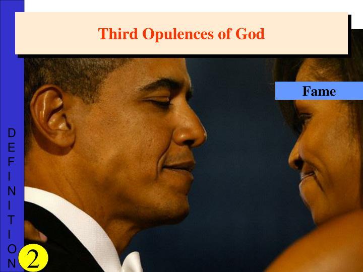 Third Opulences of God