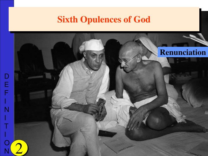 Sixth Opulences of God
